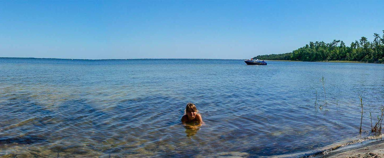 camping bord de lac Gironde